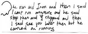 Running Part 2. Pen on paper