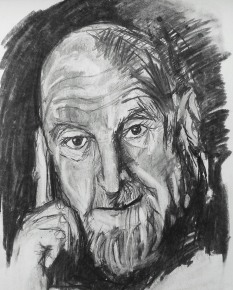 Charcoal on paper, 30 x 40 cm