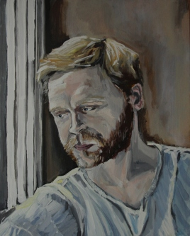 Alan Acrylic on canvas, 40 x 50 cm