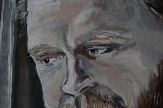Alan (detail) Acrylic on canvas, 40 x 50 cm