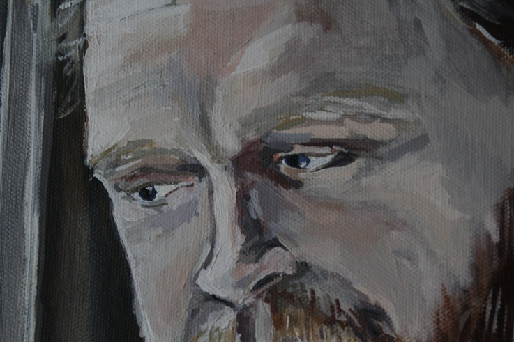 Alan (detail) Acrylic on canvas, 40 x 50 cm