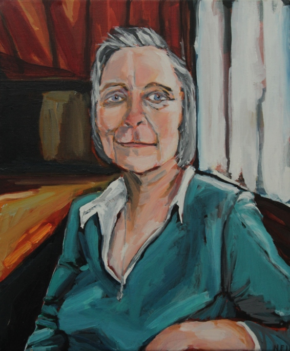 Deirdre (portrait of my mother) Oil on Canvas, 21 X 30 cm