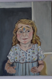 Eppie (portrait of my daughter) Oil on canvas, 30 x 40 cm