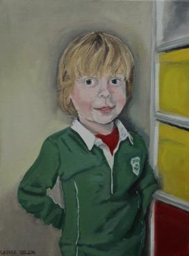 George Oil on canvas, 30 x 40 cm