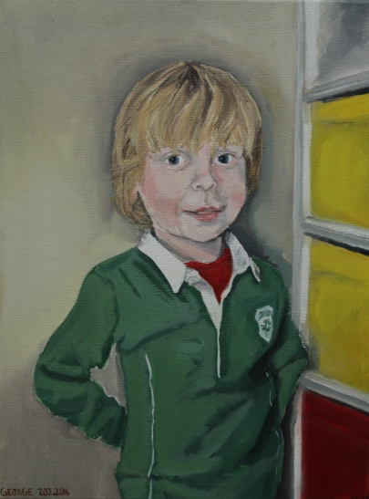 George Oil on canvas, 30 x 40 cm