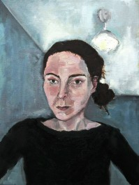 Self Portrait in Black,Oil on canvas